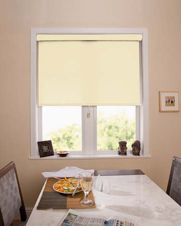 Louvolite Basix Blackout Alabaster Blackout Blinds