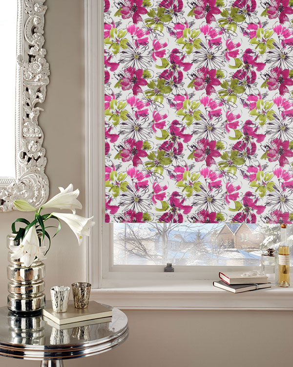 Louvolite Bloom Juno Floral Patterned Blackout Blinds