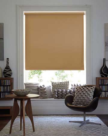 Louvolite Carnival Blackout Caramel Blackout Blinds
