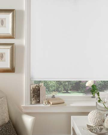 Louvolite Carnival Blackout China White Blackout Blinds