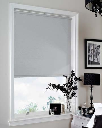 Louvolite Chenille Silver Blackout Blinds