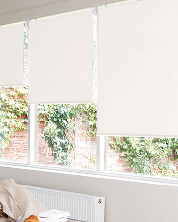 Louvolite Exlite Cream Blackout Blinds