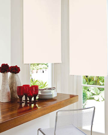 Louvolite Exlite Ivory Blackout Blinds