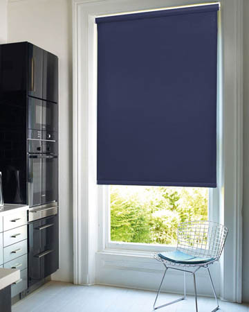 Louvolite Exlite Navy Blackout Blinds