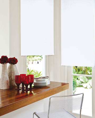 Louvolite Exlite White Blackout Blinds