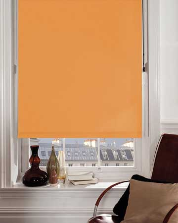 Moonlight Tangerine Blackout Blinds