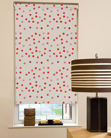 Presto Dotty Pink Blackout Blinds