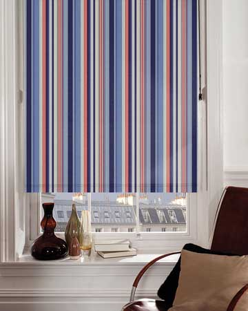 Presto Stripes Blue Blackout Blinds