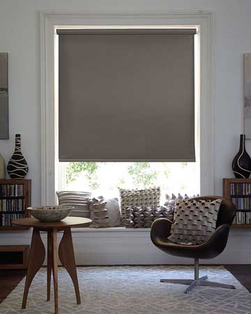 Textured Luxury Taupe Blackout Blinds
