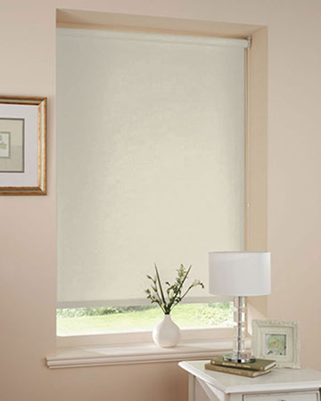 Wipeable Butter Blackout Blinds