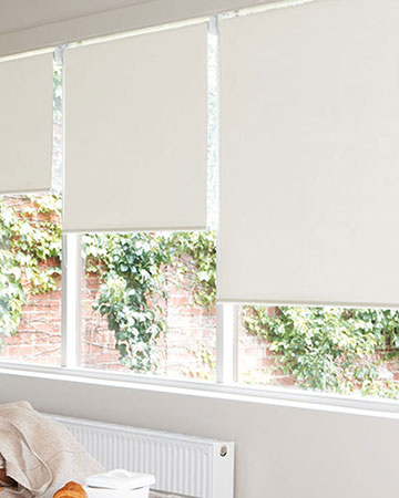 Wipeable Cream Blackout Blinds