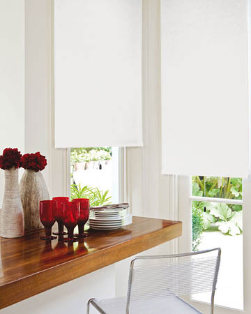 Wipeable White Blackout Blinds