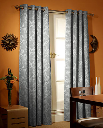 Byzance Palmette Taupe Curtains