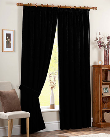 Canvas Black Curtains