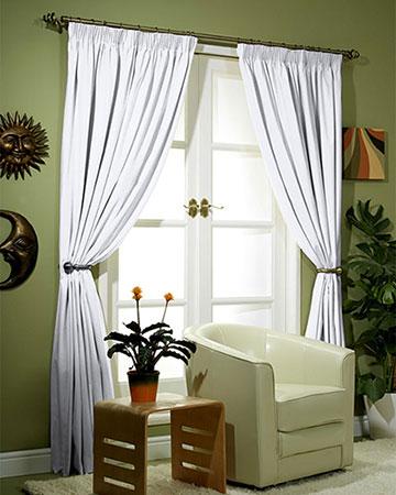Canvas White Curtains