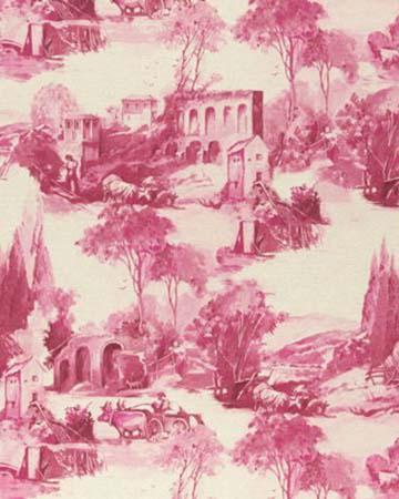 Clarke & Clarke Anastacia Raspberry Curtains