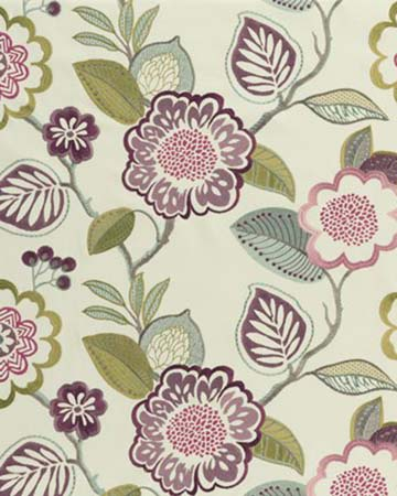 Clarke & Clarke Beaulieu Cassis Curtains