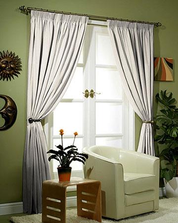 Clarke & Clarke Isla Ivory/Gilver Curtains