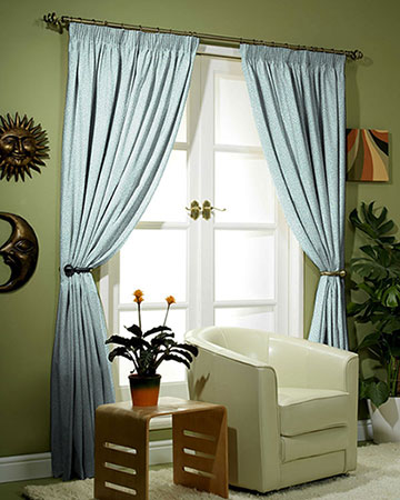 Clarke & Clarke Isla Mineral/Silver Curtains