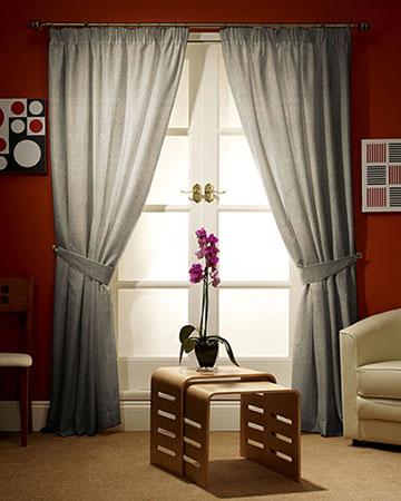 Clarke & Clarke Isla Taupe/Gold Curtains