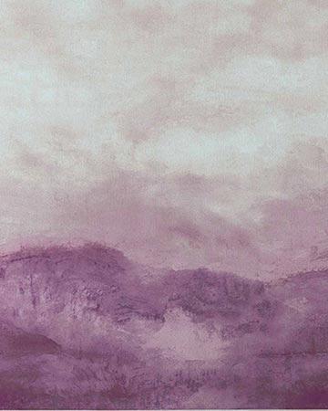 Clarke & Clarke Landscape Damson/Taupe Curtains