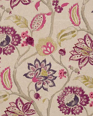 Clarke & Clarke Mariam Mulberry Curtains