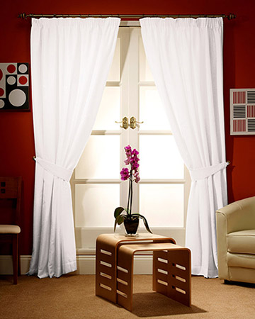 Clarke & Clarke Nantucket Chalk Curtains