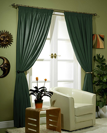 Clarke & Clarke Nantucket Malachite Curtains
