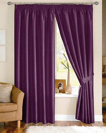 Clarke & Clarke Nantucket Violet Curtains