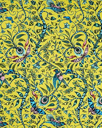 Clarke & Clarke Rousseau Lime Curtains