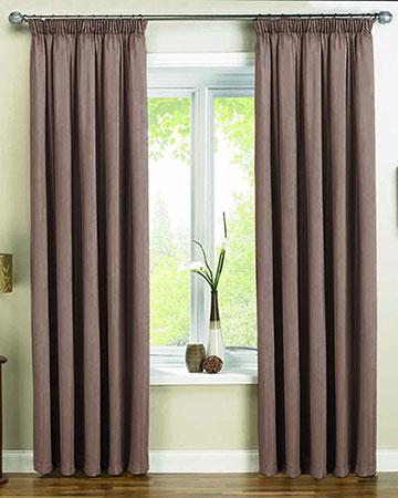 Dahlia Chocolatte Curtains