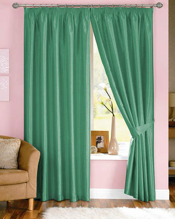 Dahlia Green Curtains