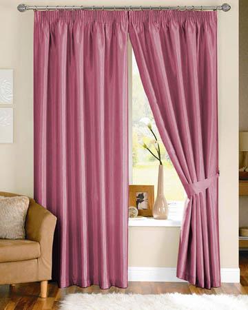 Dahlia Wine Curtains