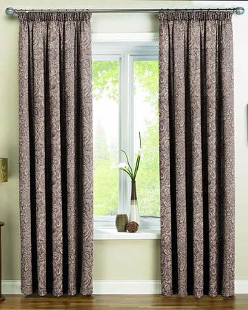 Dolce Vita Palmette Violet Curtains