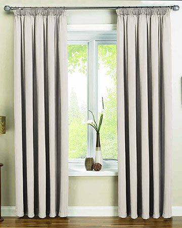 Faux Silk Beige Curtains