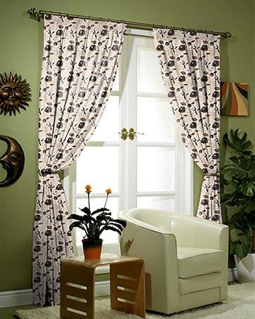 Lagonda Brown Curtains