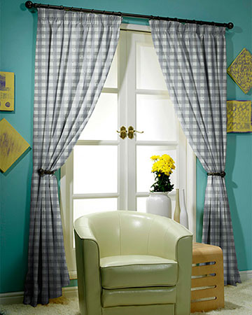 Menorca Grey Curtains