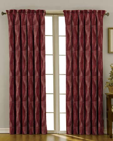 Morion Red Curtains