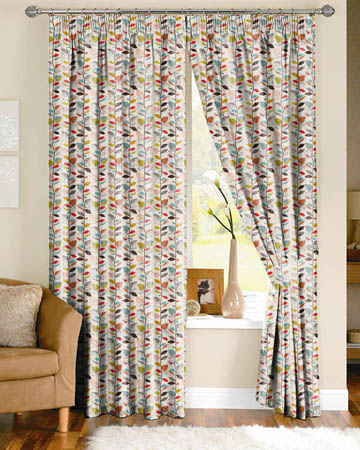 Prestigious Autumn Leaves Cinnamon Curtains