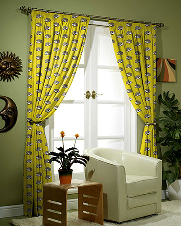 Prestigious Hedgehog Jonquil Curtains