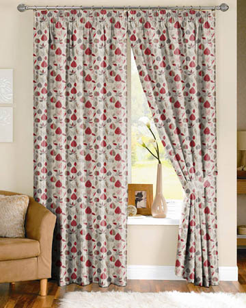 Prestigious Maple Red Berry Curtains