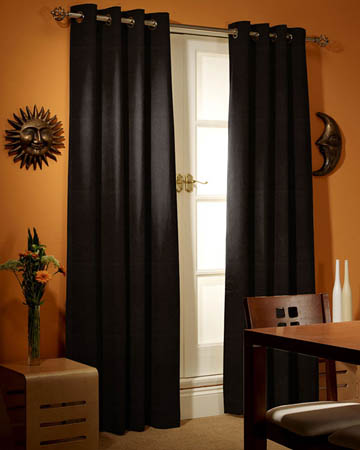 Prestigious Panama Black Curtains