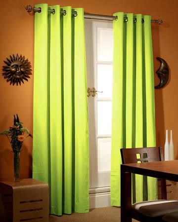 Prestigious Panama Lime Curtains