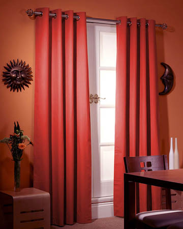 Prestigious Panama Red Curtains