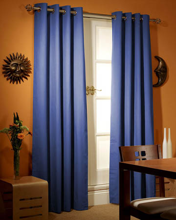 Prestigious Panama Saxa Blue Curtains
