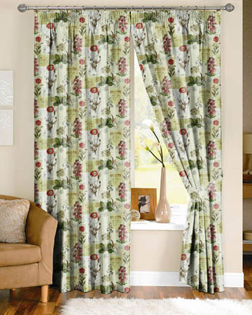 Prestigious Wild Flower Cinnamon Curtains