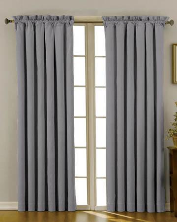 Soft Uni Chrome Curtains