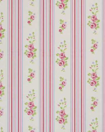 Studio G Floral Stripe Chintz Curtains