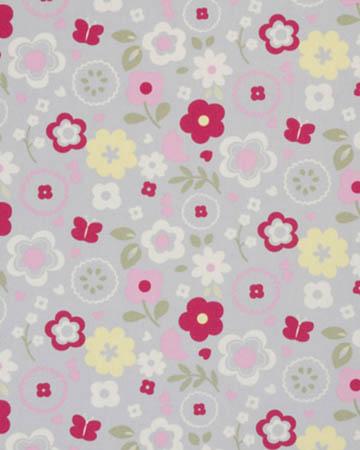 Studio G Retro Floral Grey Curtains