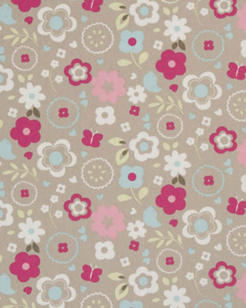 Studio G Retro Floral Taupe Curtains